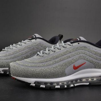 DCCKL8A Jacklish Nike Air Max 97 Lx Swarovski Silver Bullet Metallic Silver/black-red For Sale