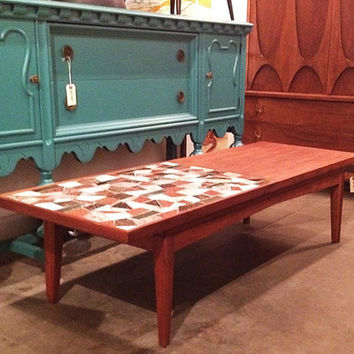Mid-century Modern coffee table with original t...