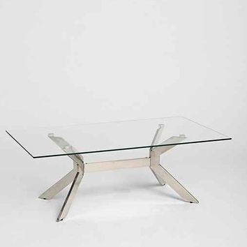 Glass Top Coffee Table - Silver One