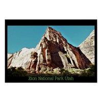 Zion National Park Utah Poster