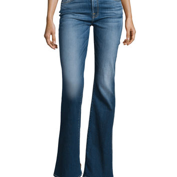 High-Waist Vintage Boot-Cut Jeans, Bright Indigo