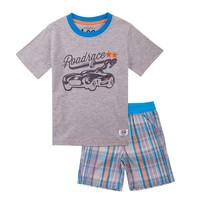 Lee Car Tee & Plaid Poplin Shorts Set - Toddler Boy, Size: