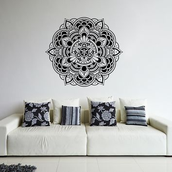 ik366 Wall Decal Sticker mandala hamsa hand Buddha Hindu Hinduism Ornament