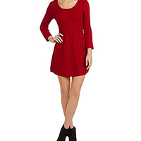 Teeze Me Ribbed Knit Sweater Dress