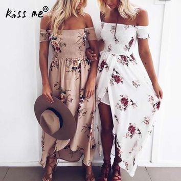 off shoulder side slit tube Dress floral tunics for beach cover ups robe de plage sheer cover up dress pareo praia beach tunic
