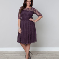 Plus Size Plum Luna Lace Dress