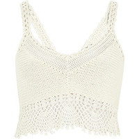 River Island Womens White crochet bralet top