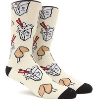 """New"" Socks Noodles & Fortunes Crew Socks - Mens Socks - Off White - One"