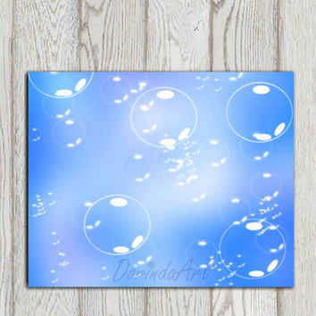 Bubble printable art Blue Bubble print Bathroom wall decor print Photo overlay Nursery decor ABSTRACT Home decor Wall Art INSTANT DOWNLOAD