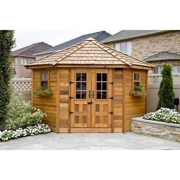 Outdoor Living Today Penthouse 9 ft. W x 9 ft. D Solid Wood Storage Shed
