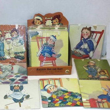 assorted raggedy ann and andy nursery art cards Case of 24