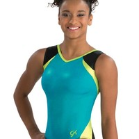 Seaglass Sparkle V Neck Workout Leo from GK Elite