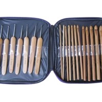 iOffer: 20pcs crochet hooks bamboo with case for sale