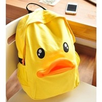 Cute Duck Canvas Backpack