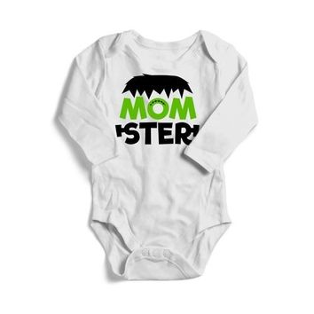 Monster Halloween Baby Long Sleeve Bodysuit