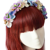 Multicolor Beaded Floral Hairband