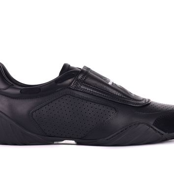 Dior Womens D-Fence Black Leather Suede Low Top Sneakers