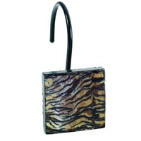 Felina Print Resin Shower Curtain Hooks