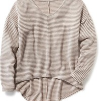Old Navy Striped Knit Hi Lo Sweater For Girls