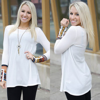 Tell Me Something Tunic (Ivory) - Piace Boutique