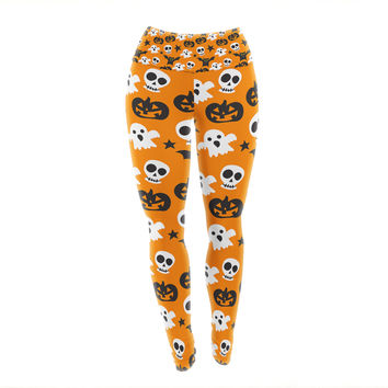 "KESS Original ""Spooktacular"" Halloween Pattern Yoga Leggings"