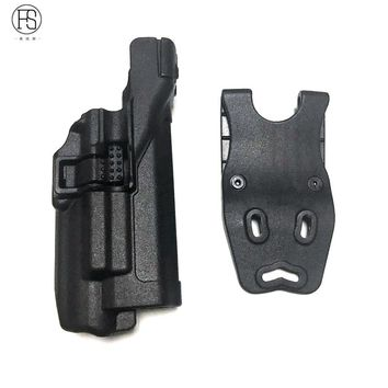 Tactical Miliatry Hunting Gear Accessories Waist Belt Gun Holster fit for Glock 17 18 19 30 31 with Flashlight Belt Holster