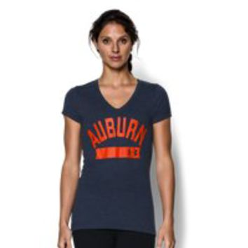 Under Armour Women's Auburn UA Tri-Blend Short Sleeve V-neck