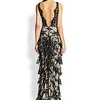 Alice + Olivia - Powell Drop-Waist Lace Gown - Saks Fifth Avenue Mobile