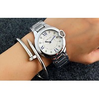 Cartier women men exquisite fashion watch Silver I-Fushida-8899