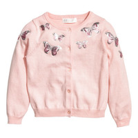 Sequined Cotton Cardigan - from H&M