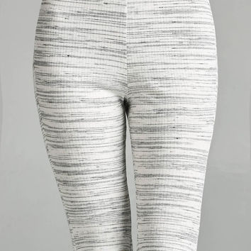 Marble Slit Knee Leggings