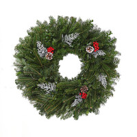 24 in. Silver Signature Series - Real, Live Fraser Fir Christmas Wreath (Fresh-Cut)