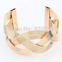 2014 Hot New Sale  Gold Plated  Alloy Hollow Out  Bracelets Bangles Jewelry for women Bijoux  Big   Women Cuff Accessories