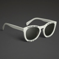 Cross My Heart Mirror Lens Sunglasses