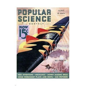 popular science monthly VINTAGE MAG COVER POSTER rare EDUCATIONAL 24X36 new