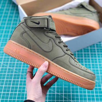 Nike Air Force 1 High Upstep Army Green Sport Shoes Sale