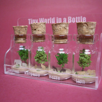 4 animal in 4 tiny bottles in a small cute case