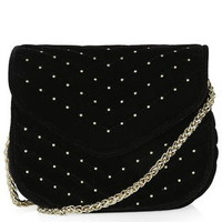 Velvet Crossbody Bag - Black