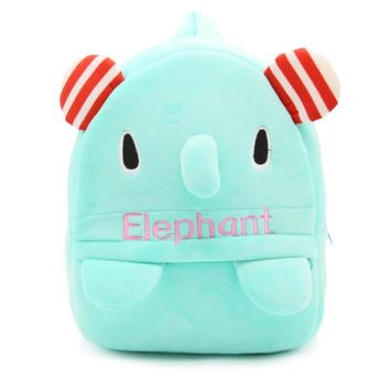 Ruipai Cute Elephant Plush Bag Kids Backpack Snacks Bags for 3-5 Years Old Baby Girls & Boys,Kindergarten Backpack Shcool Bag