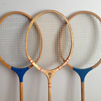 Vintage Badminton Rackets Spalding Wood Racquets