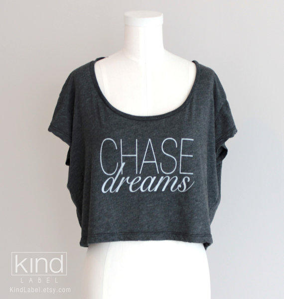 Chase Dreams Inspirational Womens Oversized Crop Top