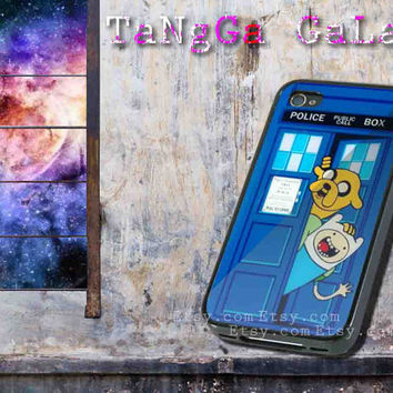 iphone case,Adventure Time Jake Finn Tardis,iphone 5 case,iphone 4/4s case,samsung s3,s4 case,accesories,cell phone,hard plastic.