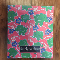 Simply Southern Notebook with Paper- Elephant