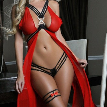 Sexy Long Nightgown Lingerie