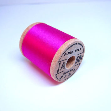 Brand New-Vintage Belding Corticelli Silk Thread Spool-Vintage Pink Belding Silk Sewing Thread-Vintage Wooden Silk Thread Spool-Shade 2260