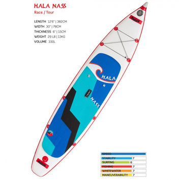 Hala Nass Racing & Touring Inflatable Stand Up Paddle Board  | HALANASS | FREE Stainless Steel Water Bottle