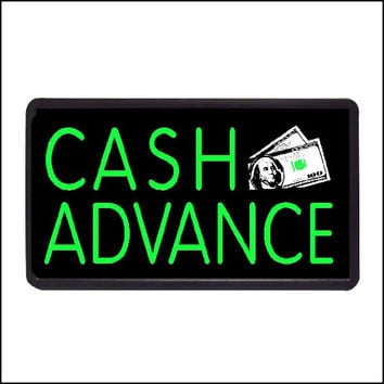 "Cash Advance Backlit Illuminated Electric Window Sign - 13""x24"""