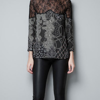 PRINTED SILK TOP - Shirts - Woman - ZARA Canada