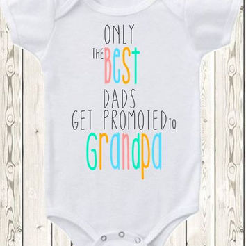 Pregnancy announcement idea for grandpa Onesuit ® brand bodysuit or shirt pregnancy reveal idea  grandpa grandparents new baby annoucnement