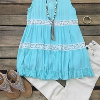 Rock This Town Tunic Top - Mint